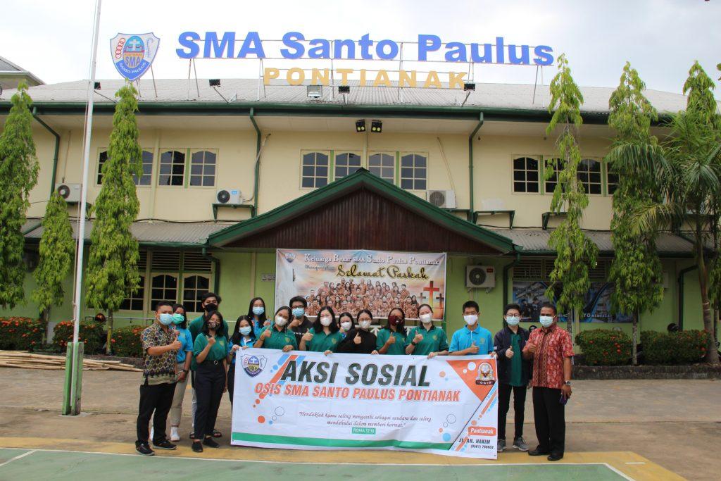 Aksi Sosial OSIS SMA Santo Paulus tahun 2021
