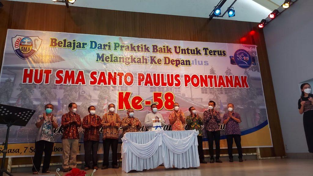 Perayaan HUT ke-58 SMA Santo Paulus Pontianak Berlangsung Lancar