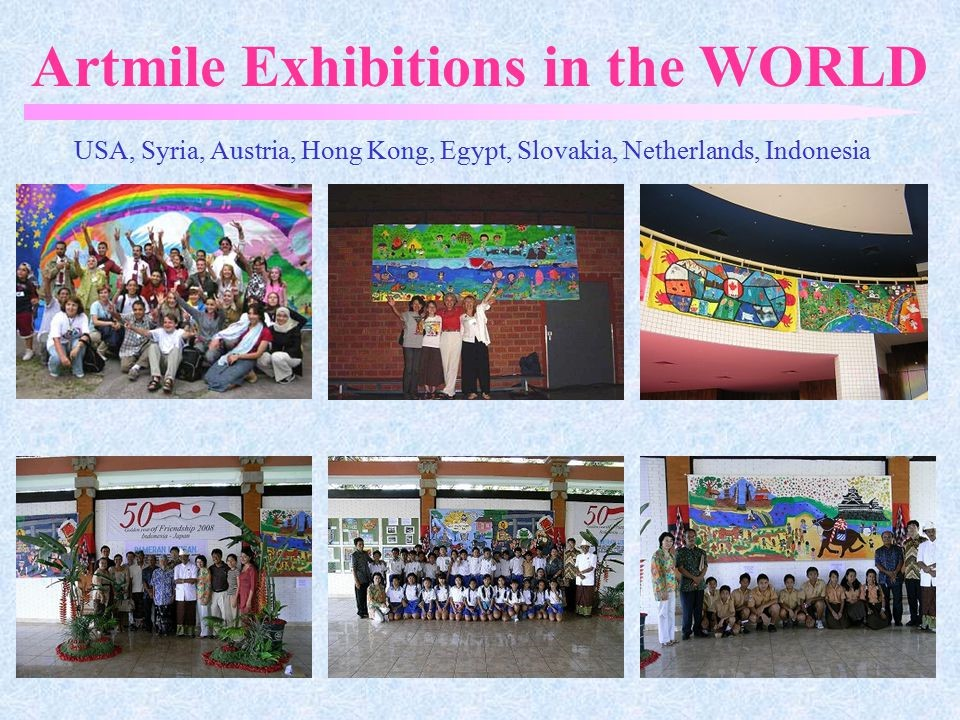 Pameran Mural Art Mile di berbagai sekolah di dunia  (Sumber: Japan Art Mile)