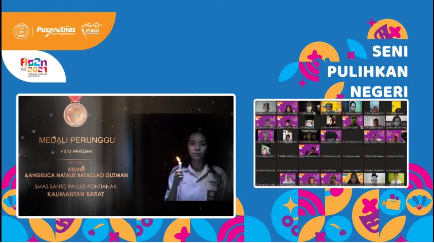 Tim Film Pendek SMA Santo Paulus Pontianak Menyabet Medali Perunggu Pada Ajang FLS2N Tingkat Nasional